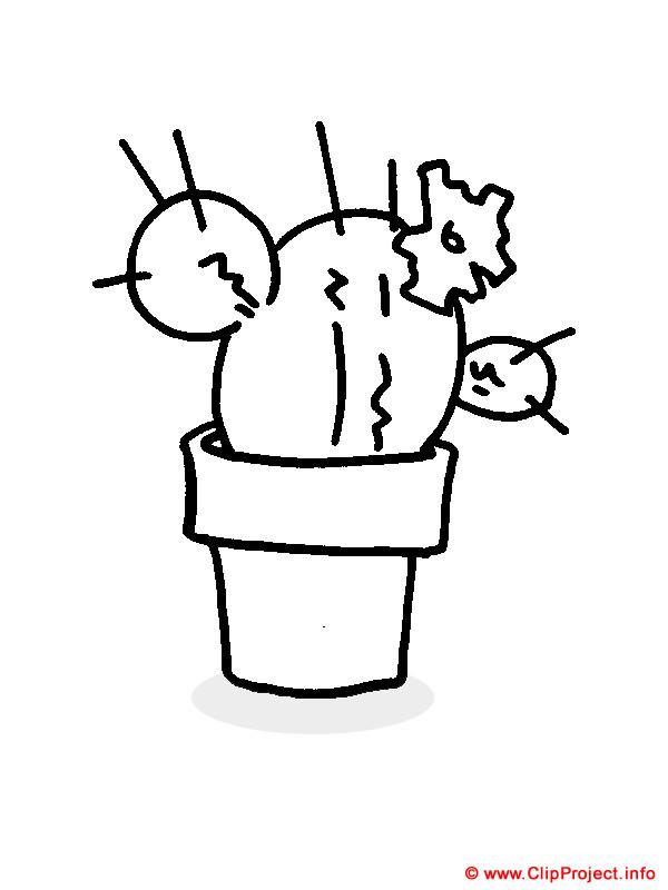 Ausmalbilder Kaktus  Kaktus Malvorlage Bild zum Ausmalen