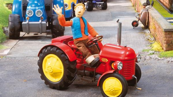 Ausmalbilder Kleiner Roter Traktor  KiKA Kleiner Roter Traktor