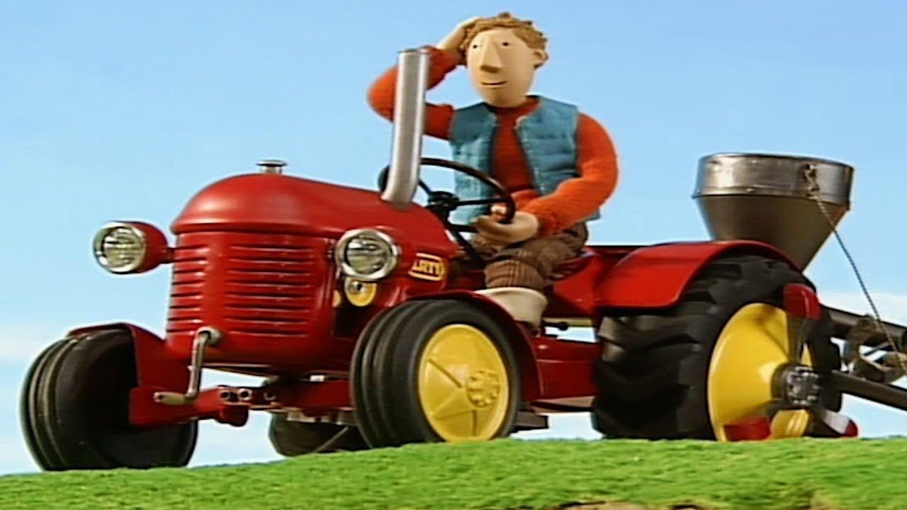 Ausmalbilder Kleiner Roter Traktor  Kleiner Roter Traktor Fliegende Kartoffeln