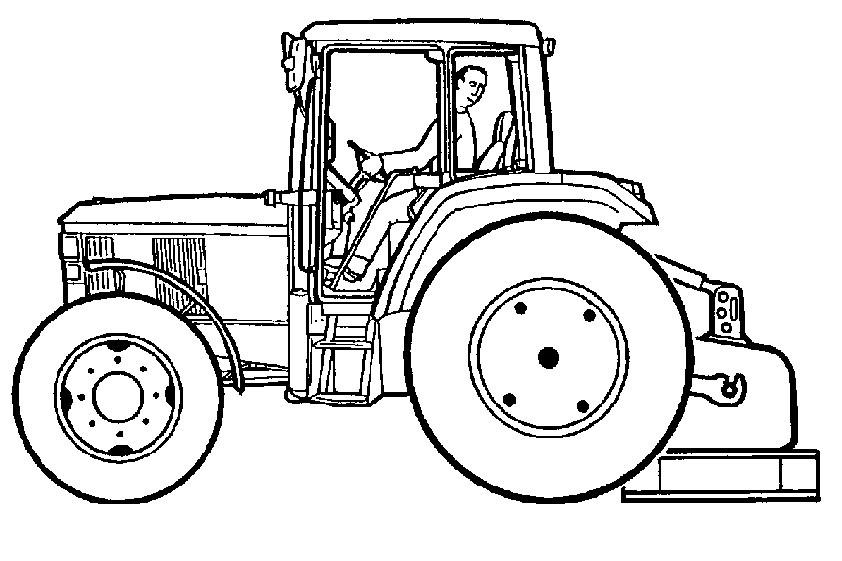Ausmalbilder Kleiner Roter Traktor  Malvorlagen Ausmalbilder Kleiner Roter Traktor