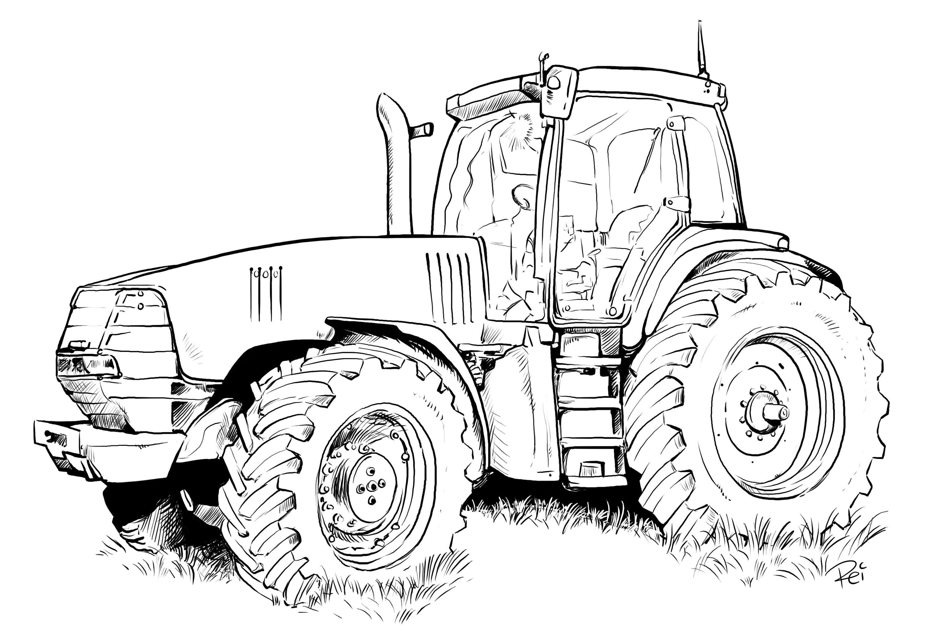 Ausmalbilder Kleiner Roter Traktor  ausmalbilder querformat 04 Kinder Pinterest