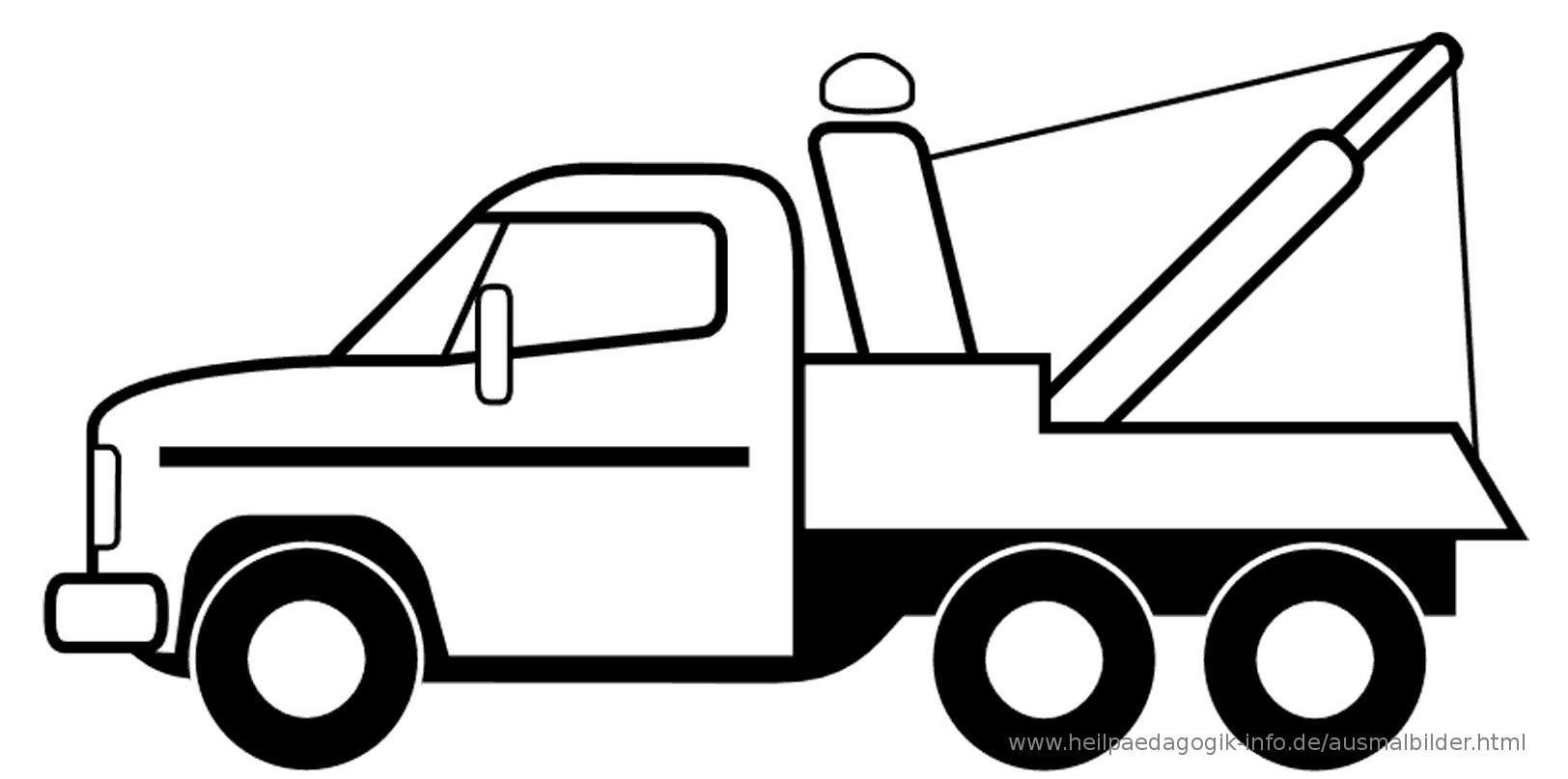 Ausmalbilder Kran  Ausmalbilder LKWs Trucks