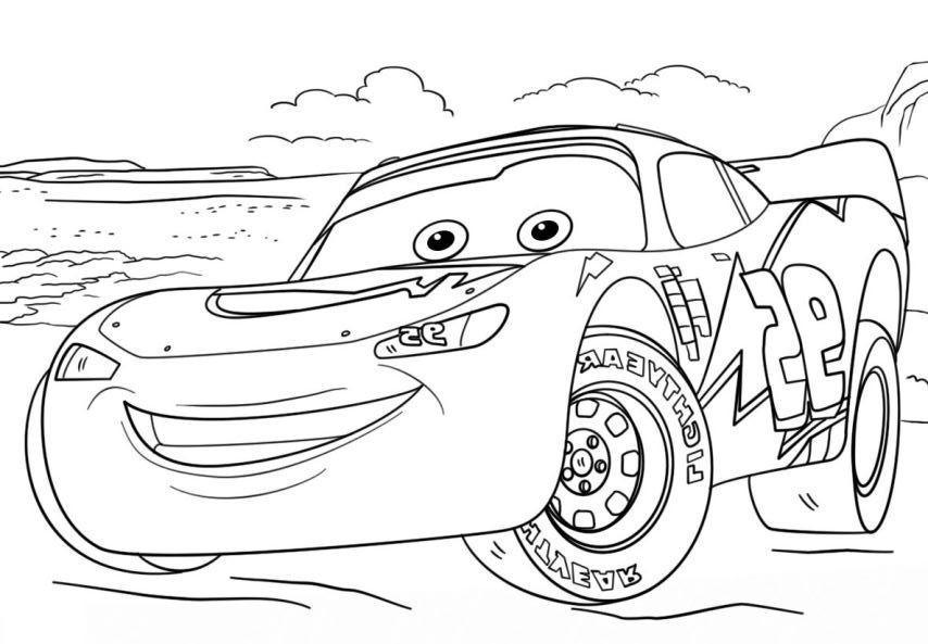 Ausmalbilder Lightning Mcqueen  Ausmalbilder Disney Cars und Lightning Mcqueen