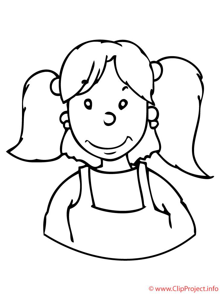 Ausmalbilder Mädchen  Kinder Malvorlagen Mädchen Malvorlage