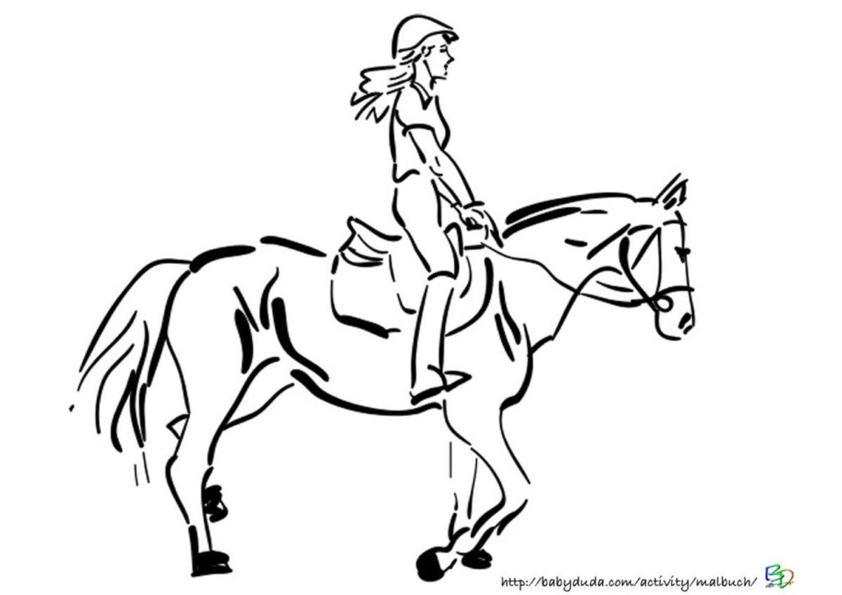 Ausmalbilder Mädchen  Ausmalbilder Pferd und Reiter zum Ausdrucken kostenlos