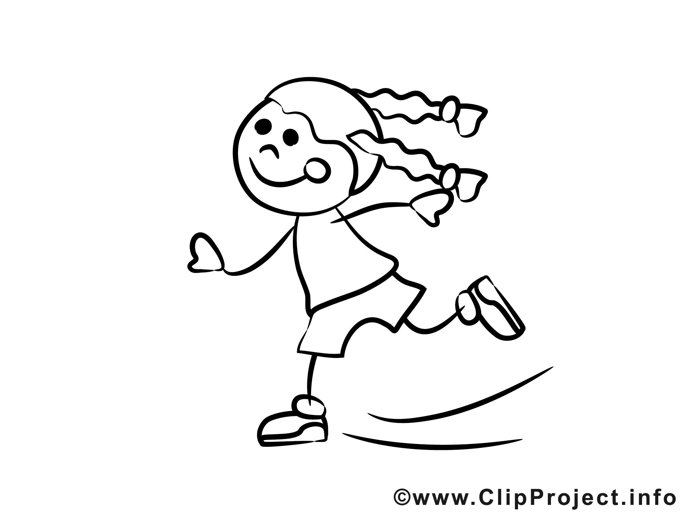 Ausmalbilder Mädchen  Mädchen läuft auf Schlittschuhen Ausmalbilder für Kinder