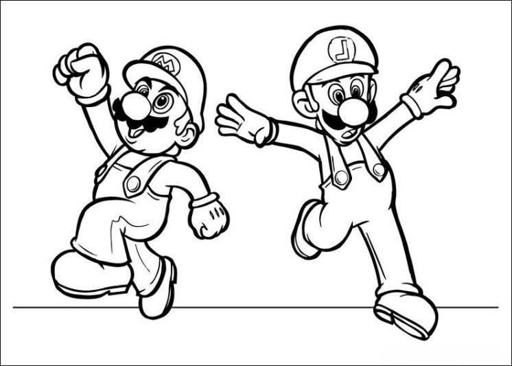 Ausmalbilder Mario Bros  Malmichaus Ausmalbild Malvorlage Super Mario Bros 1