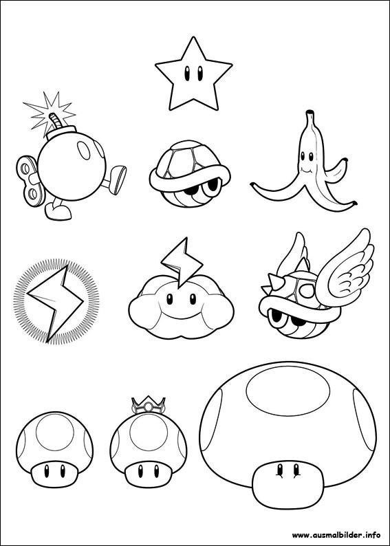 Ausmalbilder Mario Bros  Super Mario Bros malvorlagen