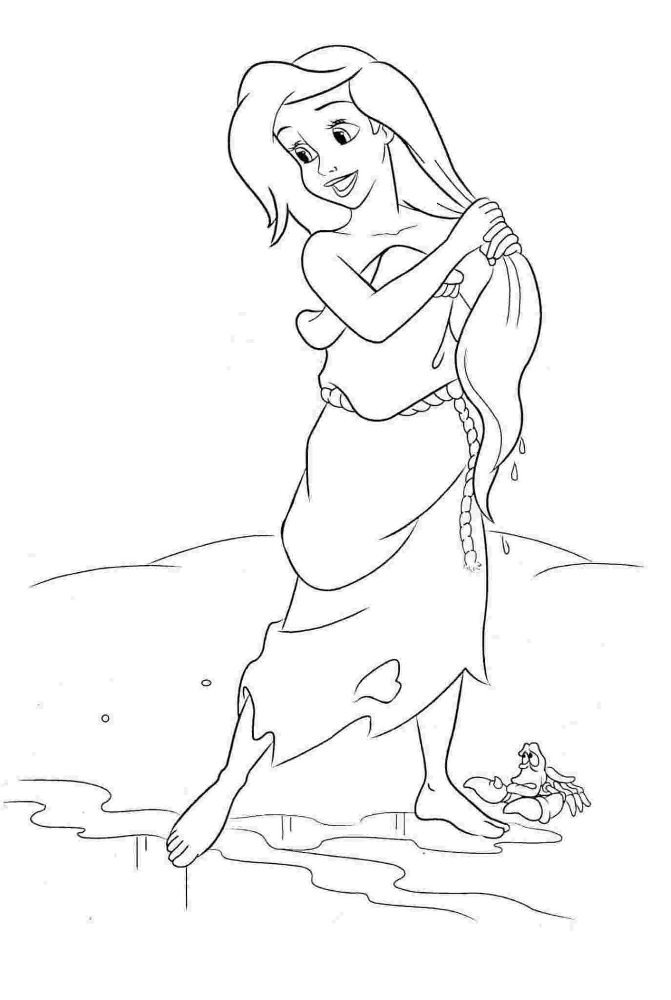 Ausmalbilder Meerjungfrau Arielle  Vorlagen zum Ausmalen Malvorlagen Arielle