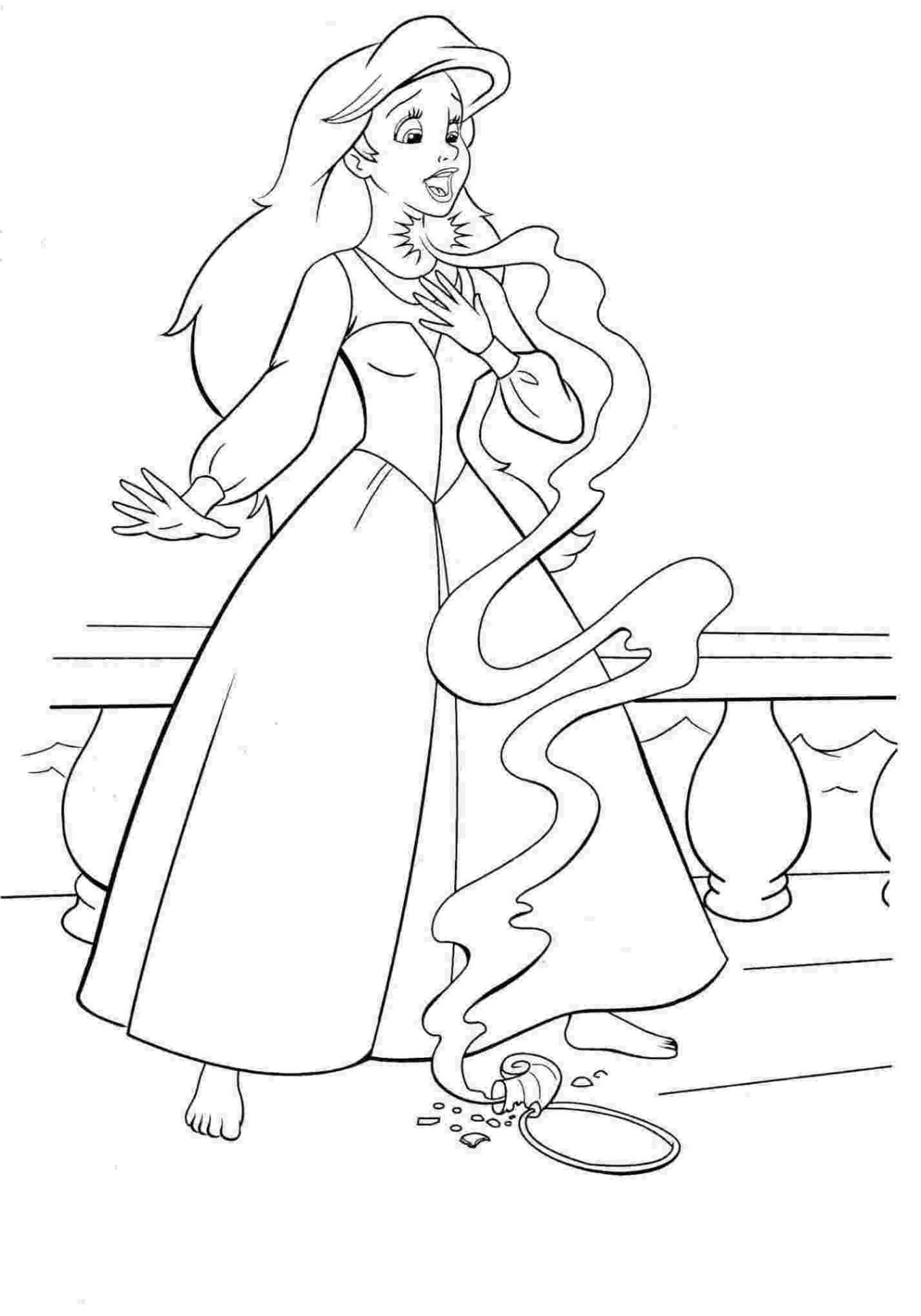 Ausmalbilder Meerjungfrau Arielle  Malvorlagen zum Ausdrucken Ausmalbilder Arielle