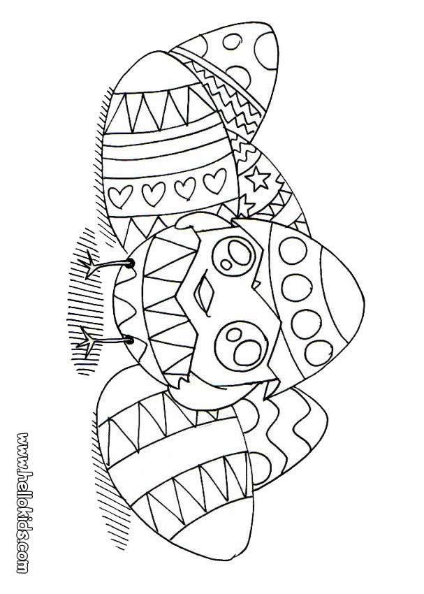 Ausmalbilder Osterküken  Schöne ostereier zum ausmalen zum ausmalen de hellokids