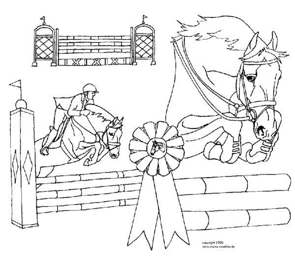Ausmalbilder Pferde Turnier  AUSMALBILDER PFERDE TURNIER Ausmalbilder