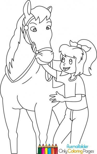 Ausmalbilder Pferde Turnier  bibi und tina ausmalbilder pferde
