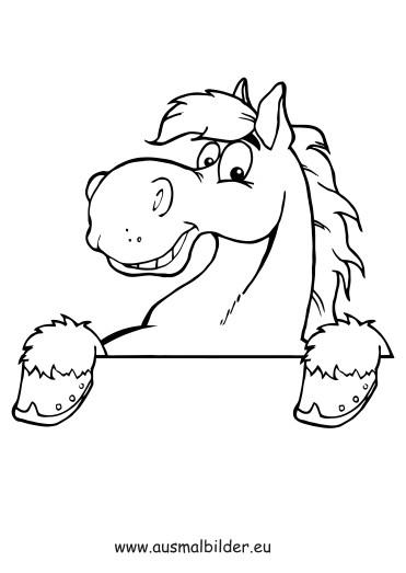 Ausmalbilder Pferdekopf  Ausmalbilder Pferdekopf Pferde Malvorlagen