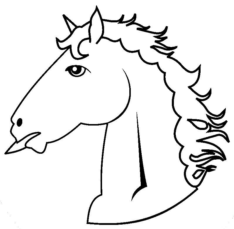 Ausmalbilder Pferdekopf  Ausmalbilder pferdekopf kostenlos Malvorlagen zum