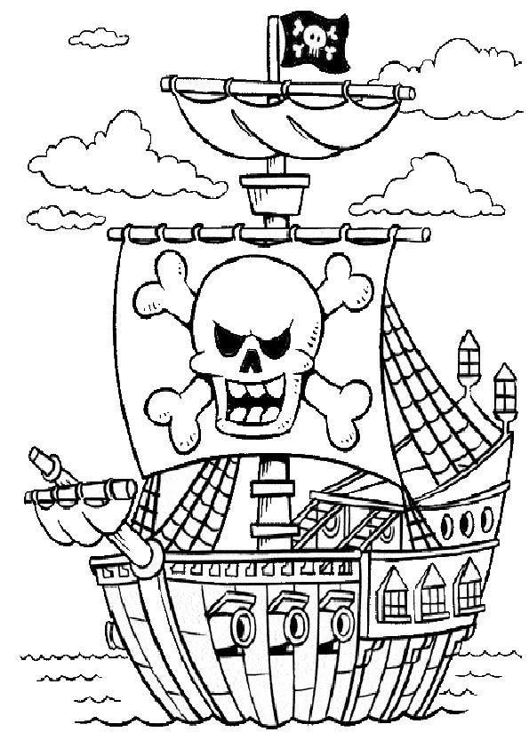 Ausmalbilder Piraten  ausmalbilder piraten 1