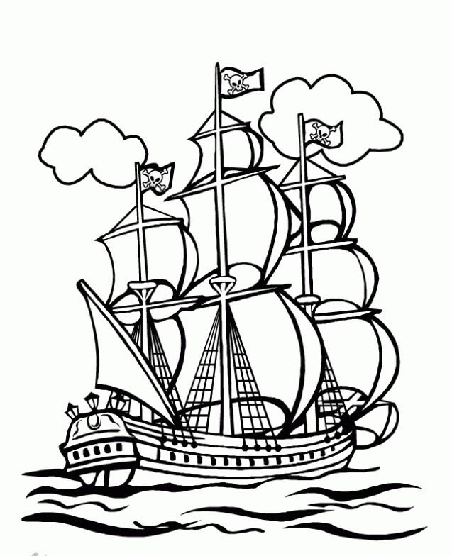 Ausmalbilder Piraten  Piraten ausmalbilder 10