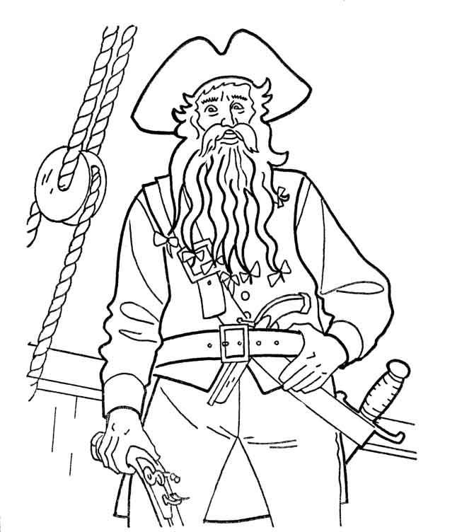 Ausmalbilder Piraten  Piraten malvorlagen 18