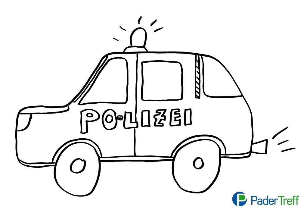 Ausmalbilder Polizeiauto  Ausmalbilder Polizei Ausdrucken