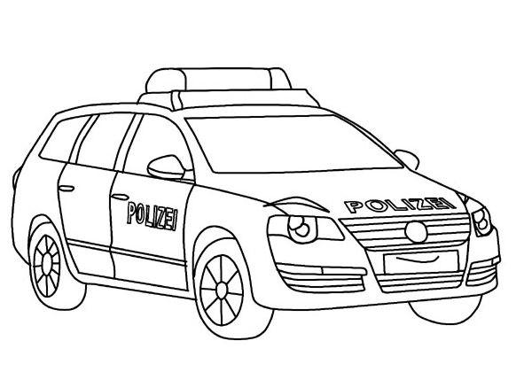 Ausmalbilder Polizeiauto  Ausmalbilder Polizei Malvorlagentv