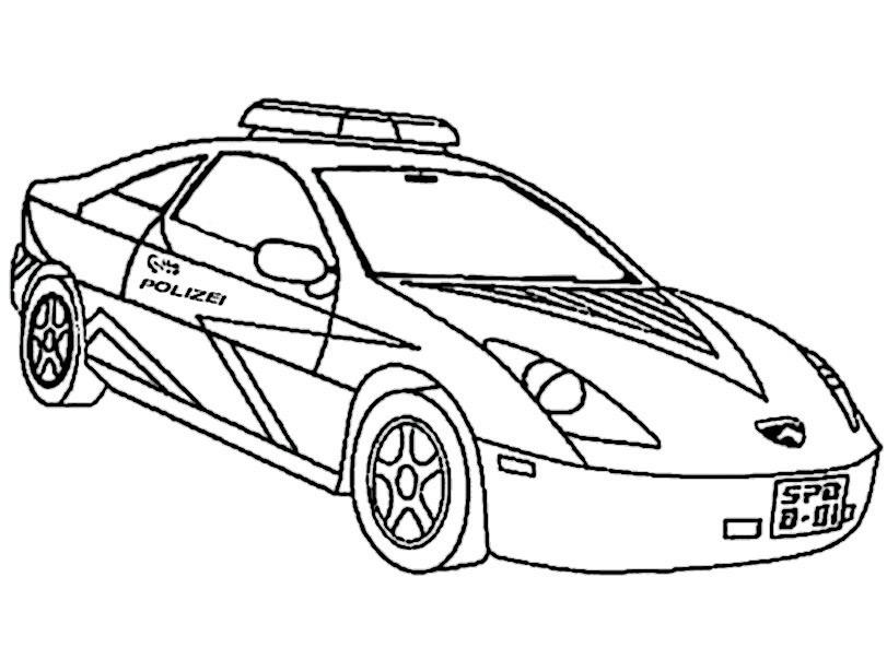 Ausmalbilder Polizeiauto  Autos 11