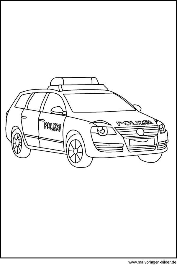 Ausmalbilder Polizeiauto  Polizeiauto Gratis Ausmalbilder und Malvorlagen