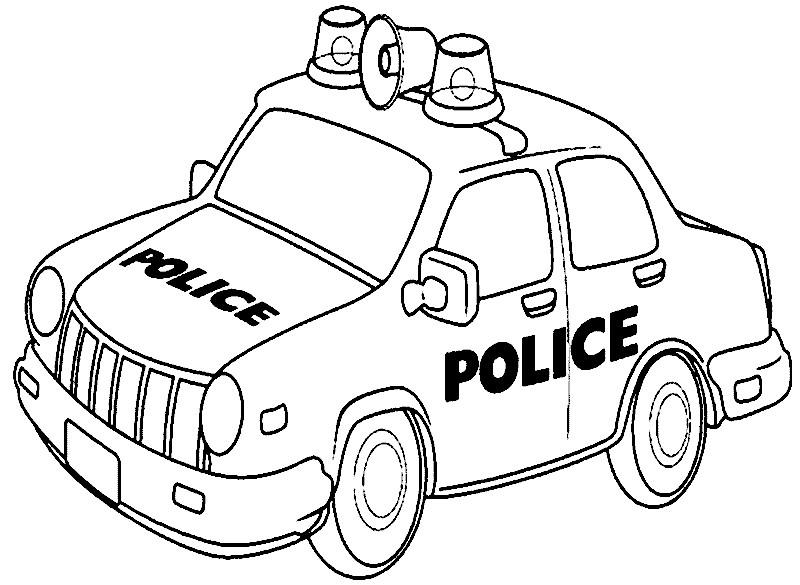 Ausmalbilder Polizeiauto  Ausmalbilder polizeiauto kostenlos Malvorlagen zum