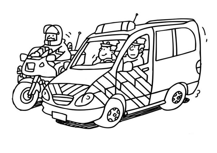 Ausmalbilder Polizeiauto  Polizei 4