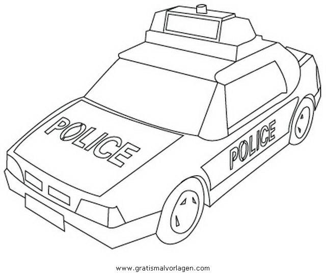 Ausmalbilder Polizeiauto  polizeiauto 3 gratis Malvorlage in Autos Transportmittel