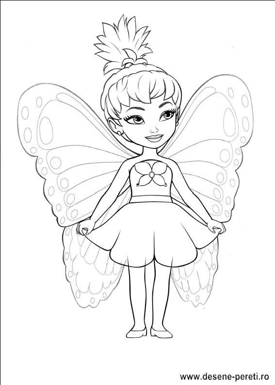 Ausmalbilder Schmetterlingsfeen  Barbie Mariposa DESENE DE PRINTAT SI COLORAT pentru copii