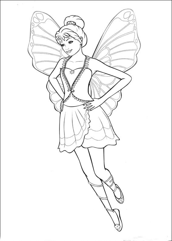Ausmalbilder Schmetterlingsfeen  DLA DZIEWCZYN Kolorowanki Barbie Mariposa do wydruku
