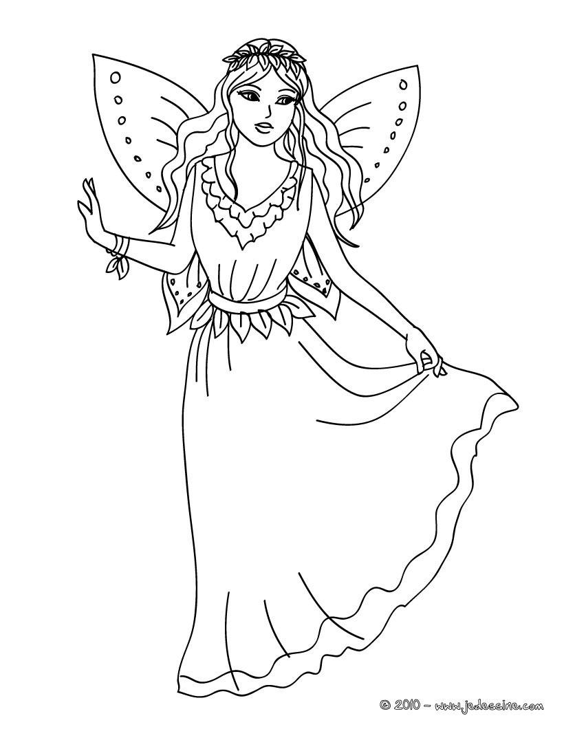 Ausmalbilder Schmetterlingsfeen  20 dessins de coloriage Fée Clochette En Ligne Gratuit à