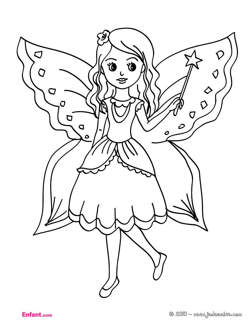 Ausmalbilder Schmetterlingsfeen  Coloriages pour fille La fée