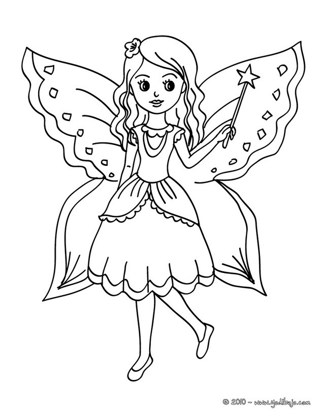 Ausmalbilder Schmetterlingsfeen  Dibujos de hadas