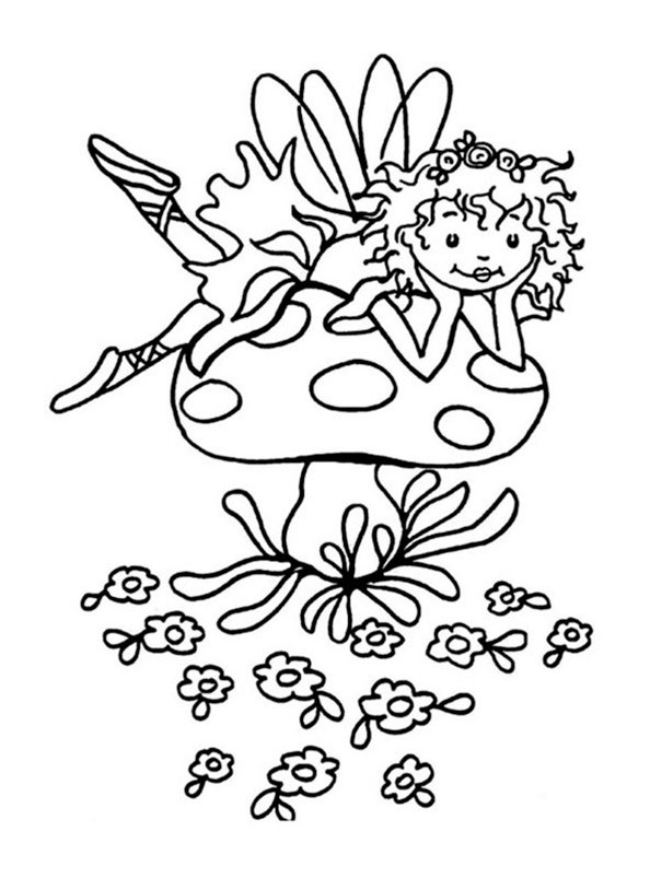 Ausmalbilder Schmetterlingsfeen  Lillifee 7