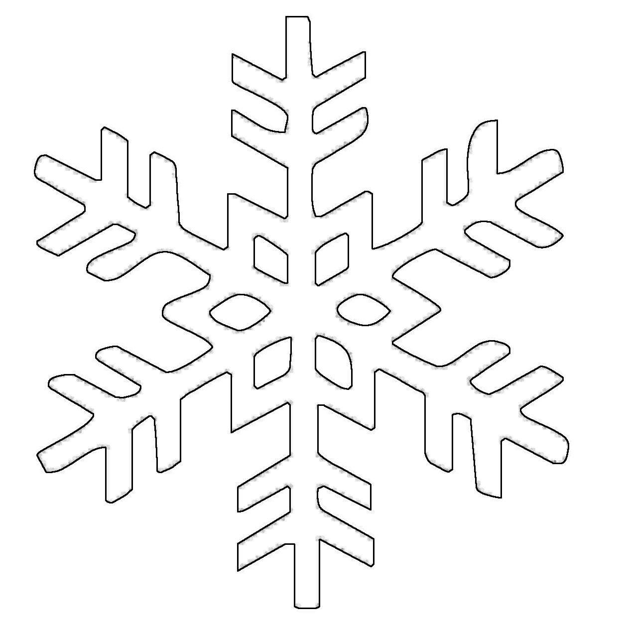 Ausmalbilder Schneeflocken  Ausmalbild Schneeflocken und Sterne Kostenlose Malvorlage