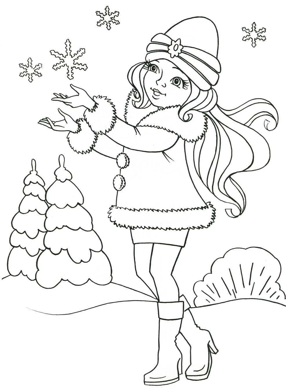 Ausmalbilder Schneeflocken  Ausmalbilder Malvorlagen – Schneeflocken kostenlos zum