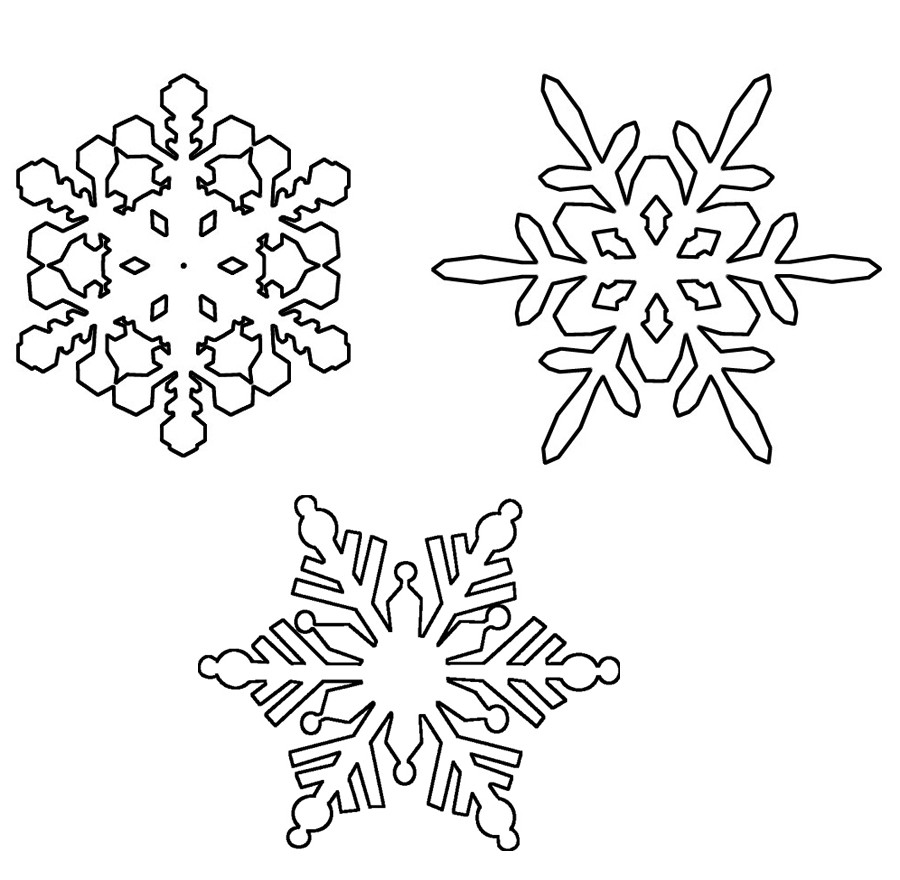 Ausmalbilder Schneeflocken  Ausmalbilder Schneeflocken Ausdrucken