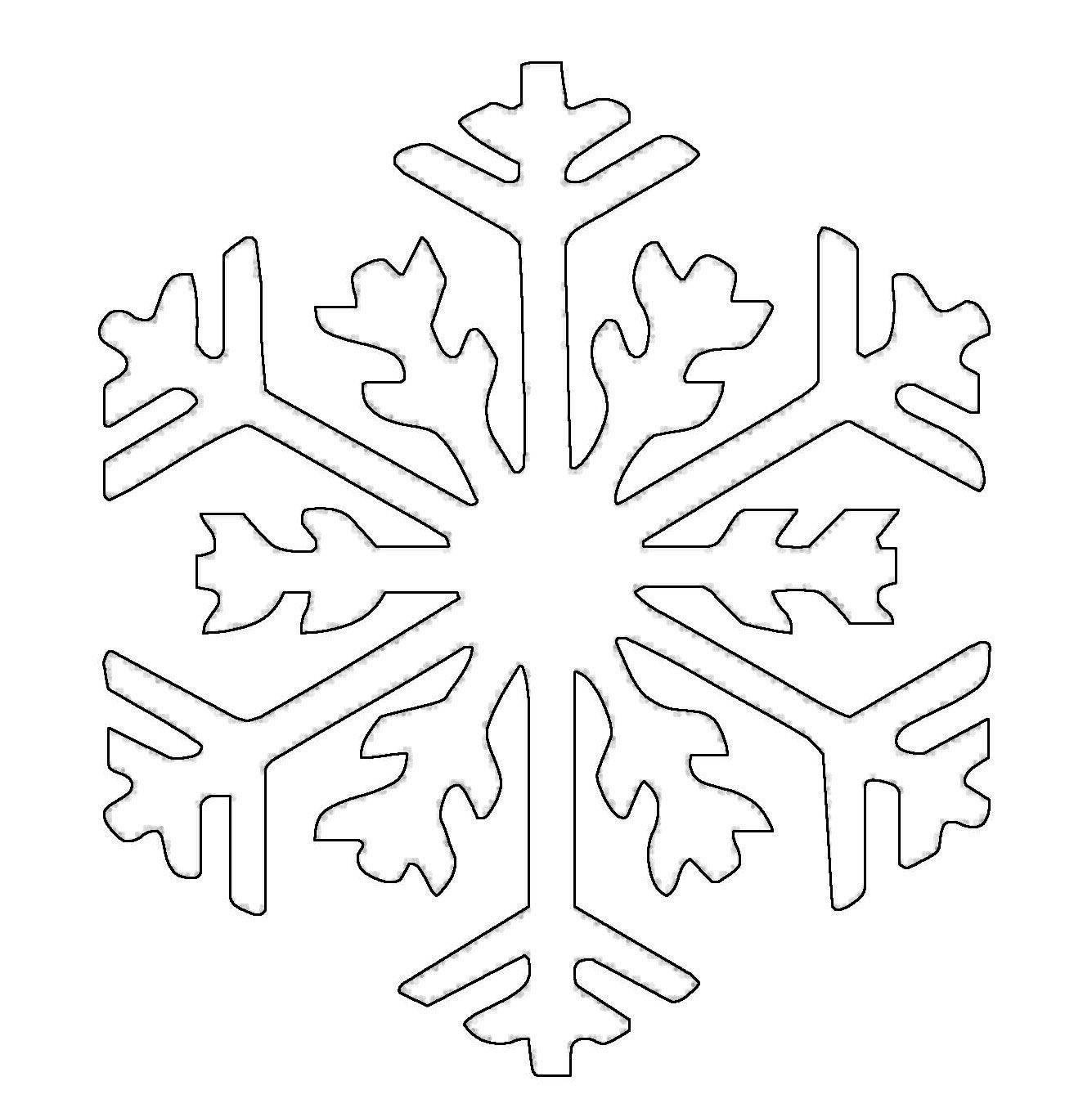 Ausmalbilder Schneeflocken  Kostenlose Malvorlage Schneeflocken und Sterne