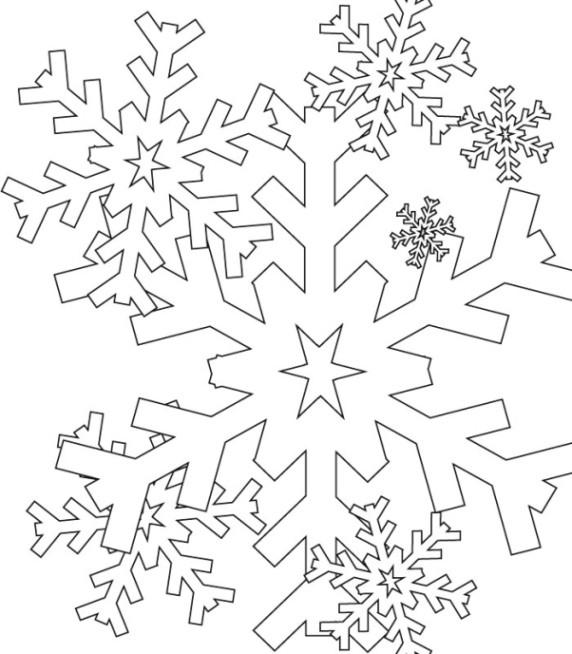 Ausmalbilder Schneeflocken  Malvorlagen zum Ausdrucken Ausmalbilder Schneeflocke