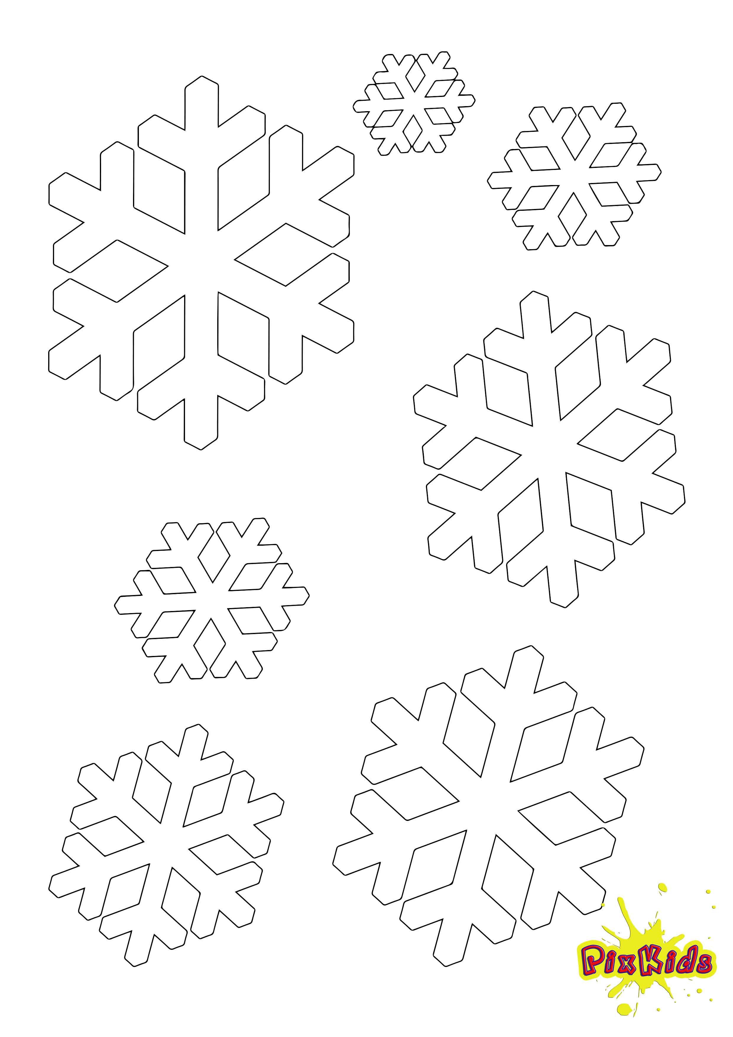 Ausmalbilder Schneeflocken  Schnee Archive