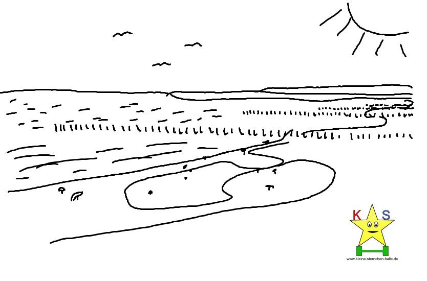 Ausmalbilder Strand Und Meer  AUSMALBILDER URLAUB MEER Ausmalbilder