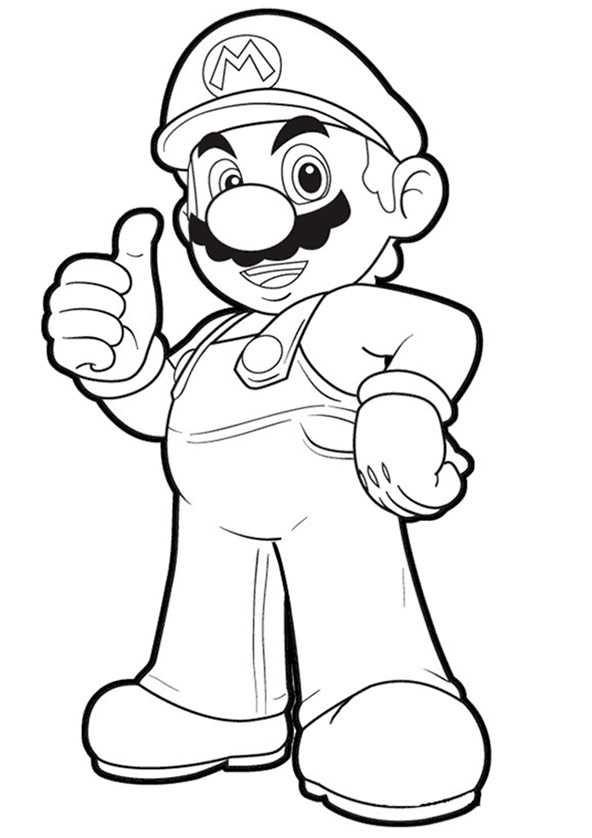 Ausmalbilder Super Mario  Ausmalbilder kostenlos Mario 3