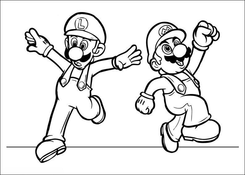 Ausmalbilder Super Mario  Tags super mario ausmalbilder super mario malvorlagen