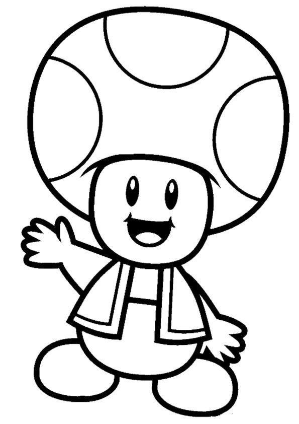 Ausmalbilder Super Mario  mario ausmalbilder 03 Peanut birthday