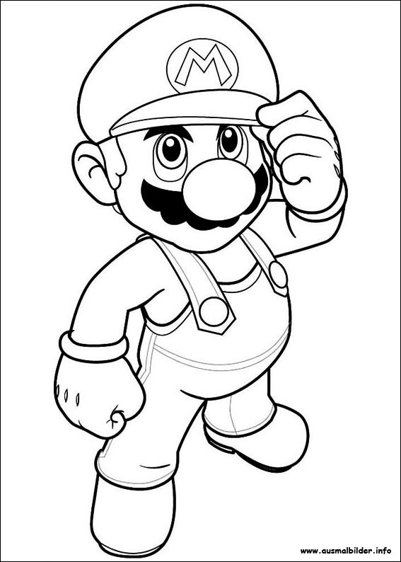 Ausmalbilder Super Mario  Super Mario Bros malvorlagen
