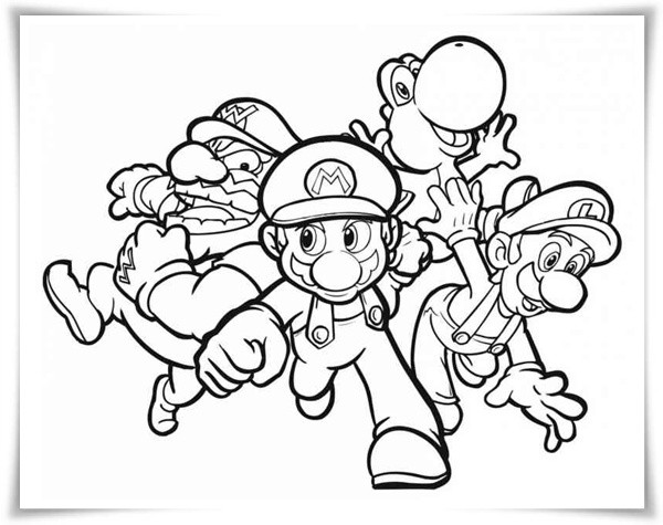Ausmalbilder Super Mario  Ausmalbilder zum Ausdrucken Ausmalbilder Mario