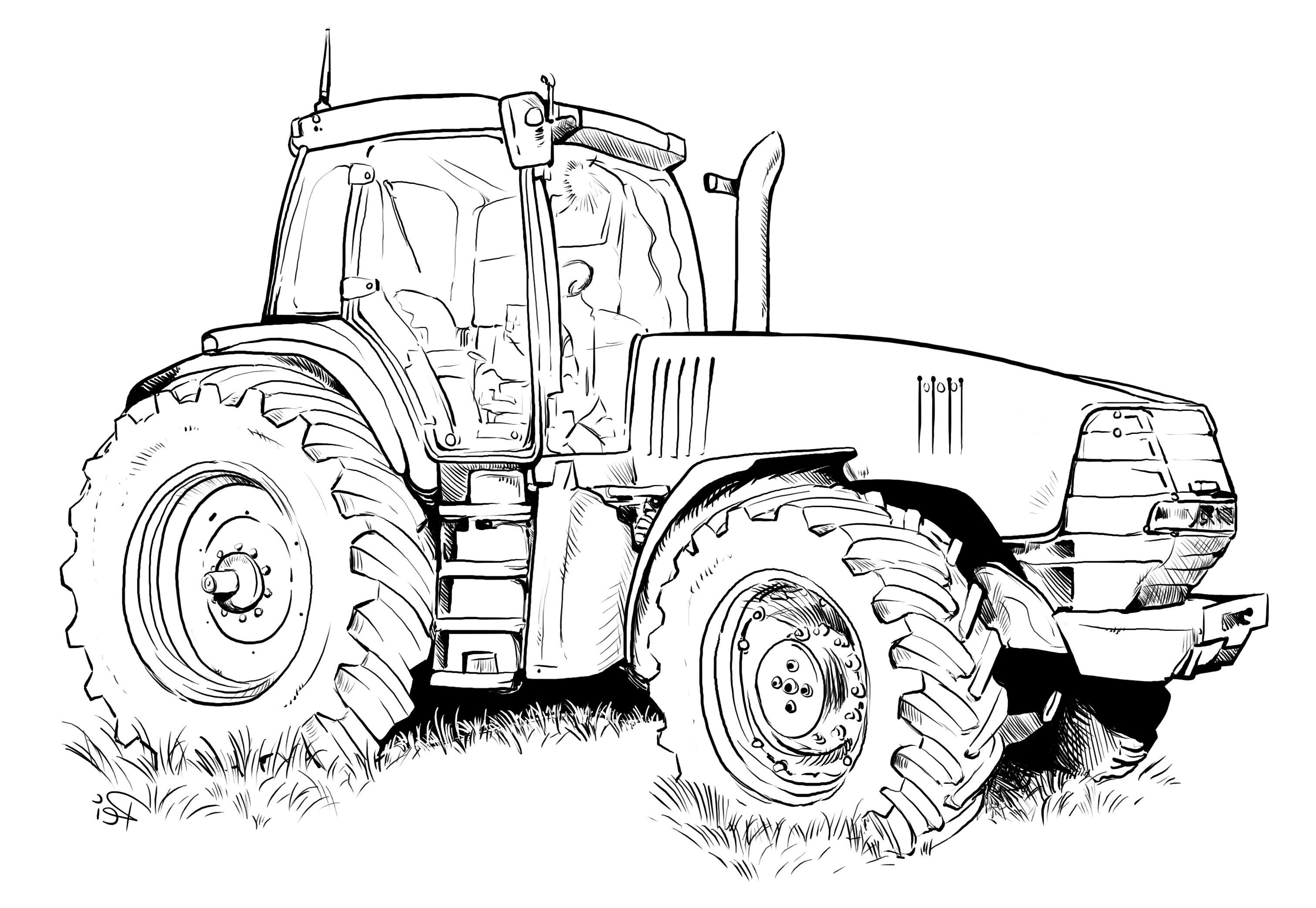 Ausmalbilder Trecker  Traktor Bilder Zum Ausmalen Ausmalbilder Eurer