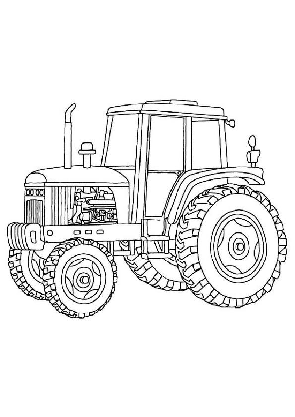 Ausmalbilder Trecker  Traktor 16