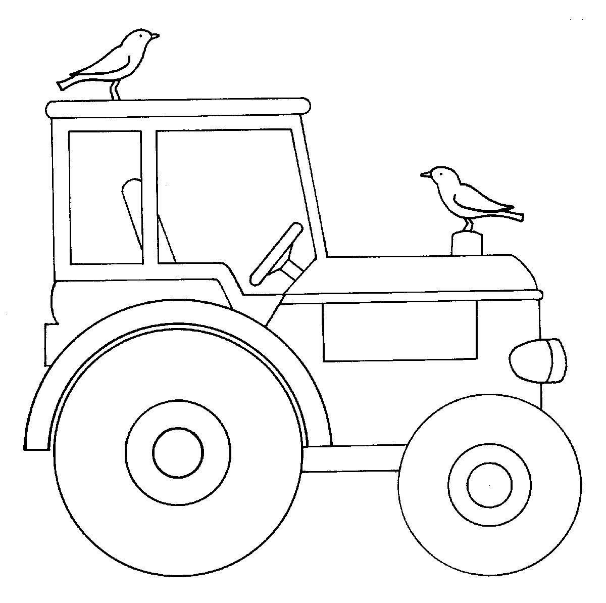 Ausmalbilder Trecker  Kostenlose Malvorlage Bauernhof Traktor zum Ausmalen